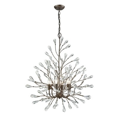 Mailiah 6-Light Crystal Chandelier