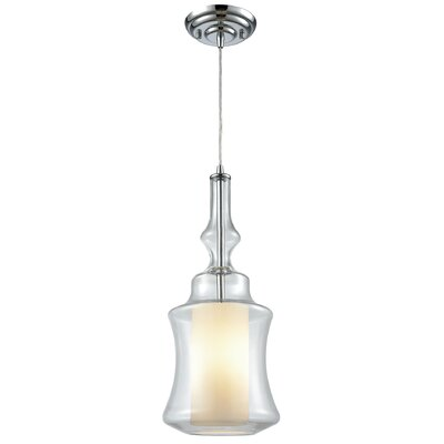 Cabell 1-Light Mini Pendant Shade Color: Clear