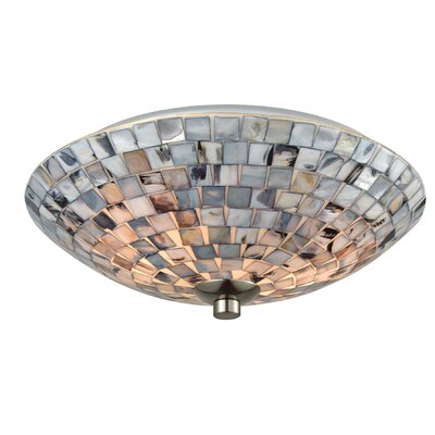 Amirah Shells 2-Light Flush Mount