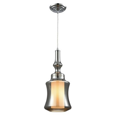 Cabell 1-Light Mini Pendant Shade Color: Smoke Plated