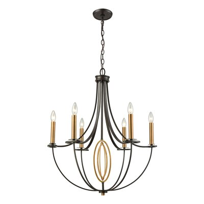 Danny 6-Light Candle-Style Chandelier