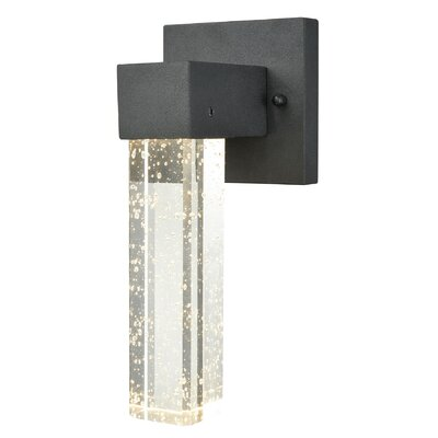Brayden Studio Graney Dimmable LED 1-Light Outdoor Sconce