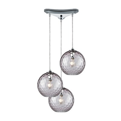 Rotterdam 3-Light Pendant Shade Color: Purple