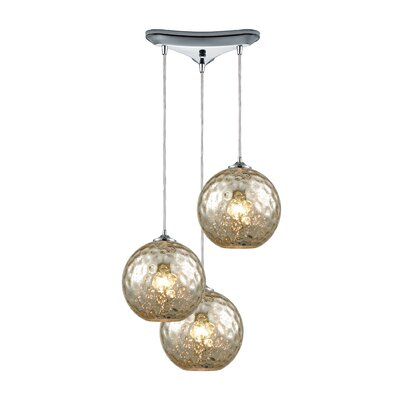 Rotterdam 3-Light Pendant Shade Color: Mercury