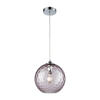 Rotterdam 1-Light Globe Mini Pendant Shade Color: Purple