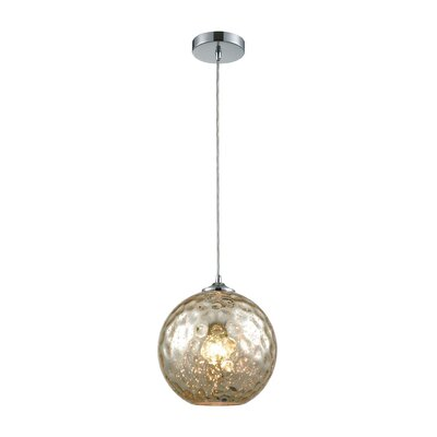 Rotterdam 1-Light Globe Mini Pendant Shade Color: Mercury