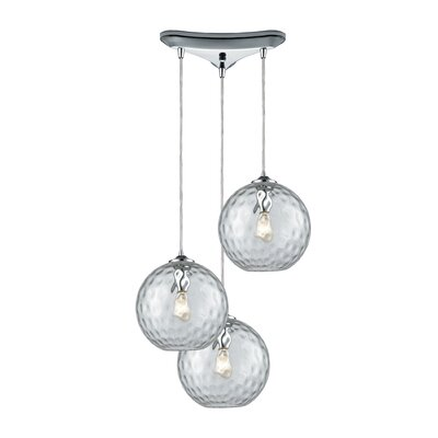 Rotterdam 3-Light Pendant Shade Color: Clear