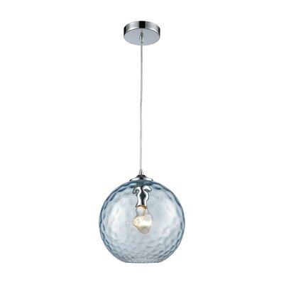 Rotterdam 1-Light Globe Mini Pendant Shade Color: Aqua