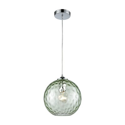 Rotterdam 1-Light Globe Mini Pendant Shade Color: Light Green