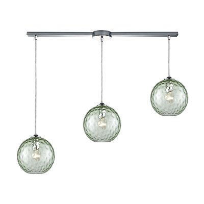 Rotterdam 3-Light Kitchen Island Pendant Shade Color: Light Green