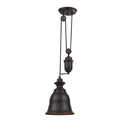 Elsenborn 1-Light Mini Pendant Type: LED, Finish: Oiled Bronze