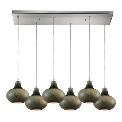 Delia 6-Light Kitchen Island Pendant