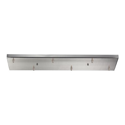 Illuminaire 6-Light Rectangular Canopy Finish: Satin Nickel
