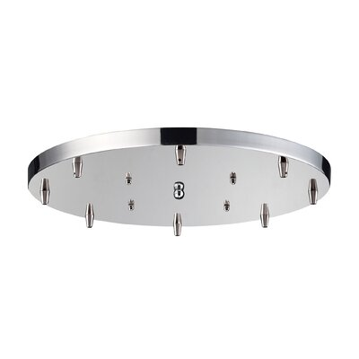 Illuminare Accessories 8-Light Round Canopy Finish: Polished Chrome