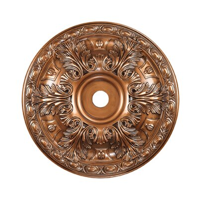 Pennington Ceiling Medallion Finish: Antique Bronze, Size: 3 H x 28 W x 28 D