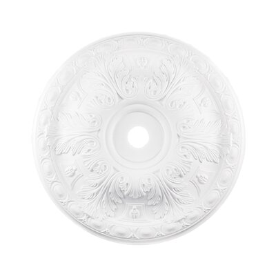 Pennington Ceiling Medallion Finish: White, Size: 2 H x 18 W x 18 D