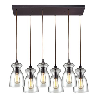 Topete 6-Light Metal Kitchen Island Pendant