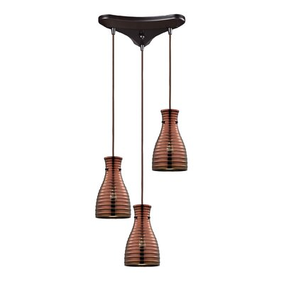 Cathina 3-Light Cascade Pendant