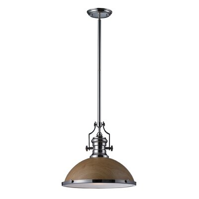 Yohana 1-Light Mini Pendant Finish: Polished Nickel, Size: 46 H x 17 W x 17 D, Bulb Type: Incandescent