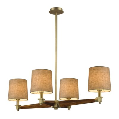Wilmes 4-Light Candle-Style Chandelier