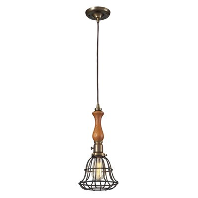 Crowther 1-Light Mini Pendant Base Color: Vintage Rust