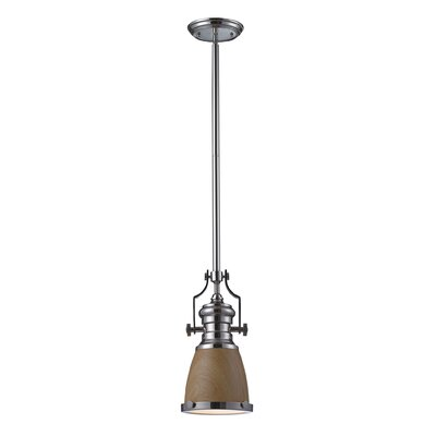 Hooke 1-Light Mini Pendant Finish: Polished Nickel