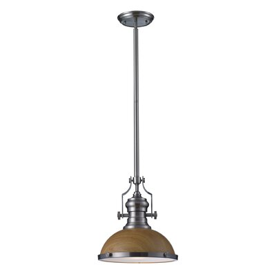 Yohana 1-Light Mini Pendant Finish: Satin Nickel, Size: 46 H x 13 W x 13 D, Bulb Type: Incandescent