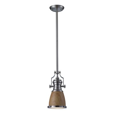 Hooke 1-Light Mini Pendant Finish: Satin Nickel