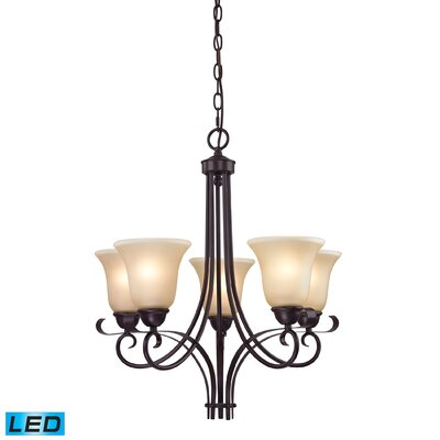 Briana 5-Light Candle-Style chandelier