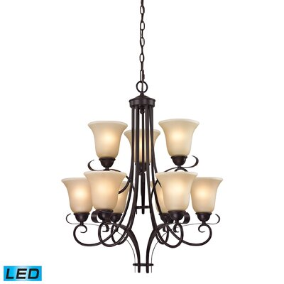 Briana 9-Light Candle-Style chandelier