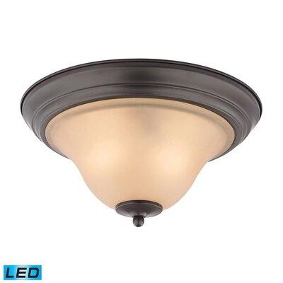 Burzdak 2-Light LED Flush Mount Finish: Oil Rubbed Bronze