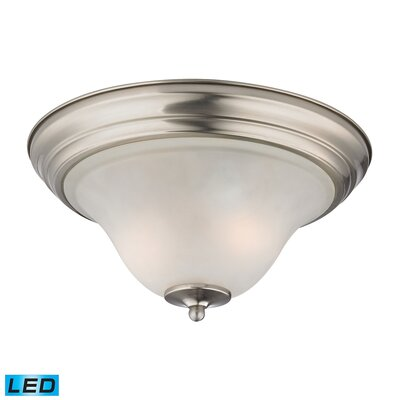 Burzdak 2-Light LED Flush Mount Finish: Brushed Nickel