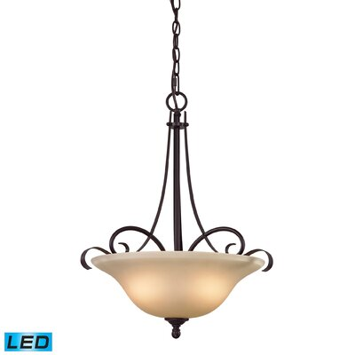 Briana 2-Light LED Bowl Metal Pendant