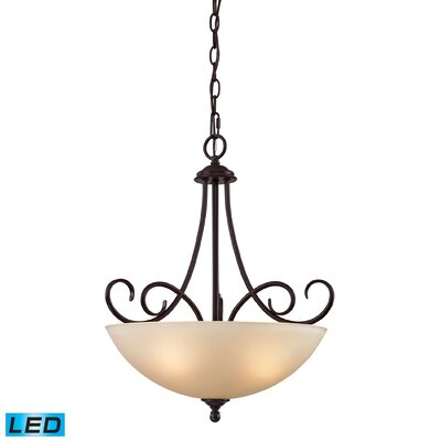 Susanna 3-Light LED Bowl Pendant