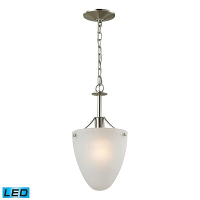 Willoughby 1-Light LED Mini Pendant Fixture Finish: Brushed Nickel
