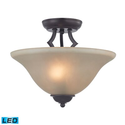 Burzdak 2-Light LED Semi Flush Mount