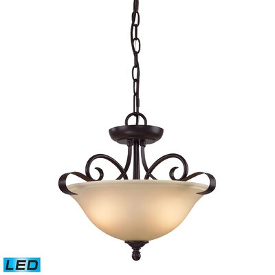 Briana 2-Light LED Bowl Pendant