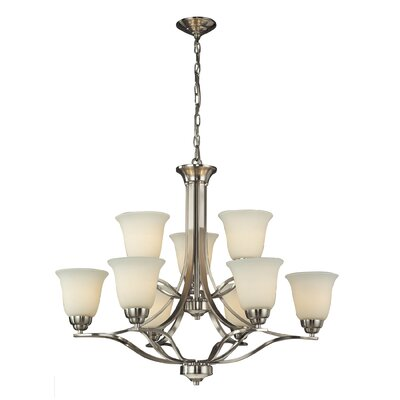 Chaitanya 9-Light Candle-Style Chandelier Bulb Type: LED