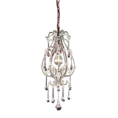 Driffield 1-Light Pendant Crystals: Rose