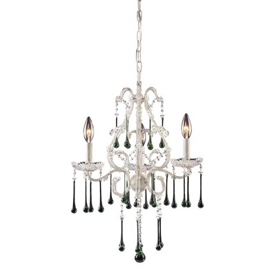 Driffield 3-Light Chain Crystal Chandelier