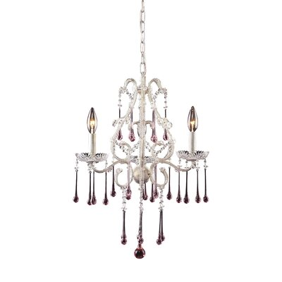 Driffield Traditional 3-Light Chain Crystal Chandelier