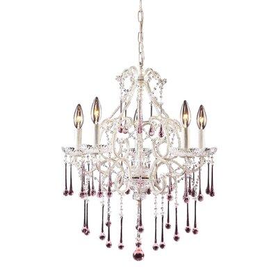 Driffield 5-Light Glass Crystal Chandelier