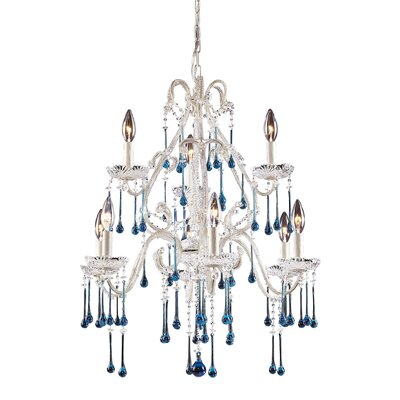 Driffield 9-Light Glass Crystal Chandelier