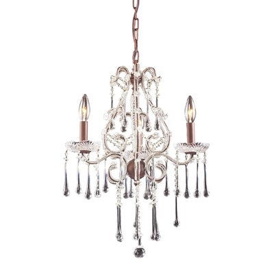 Driffield Traditional 3-Light Glass Crystal Chandelier