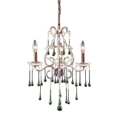 Driffield 3-Light Chain Glass Crystal Chandelier
