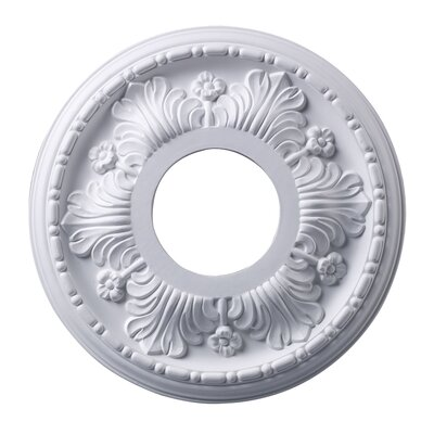 Acanthus Ceiling Medallion Finish: White