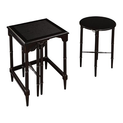 2 Piece Nesting Tables Color: Cherry