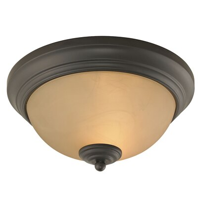 Merrill 2-Light LED Flush Mount Finish: Oil Rubbed Bronze