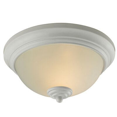 Merrill 2-Light LED Flush Mount Finish: White
