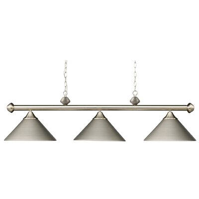 Jarrett 3-Light Kitchen Island Pendant Finish: Satin Nickel